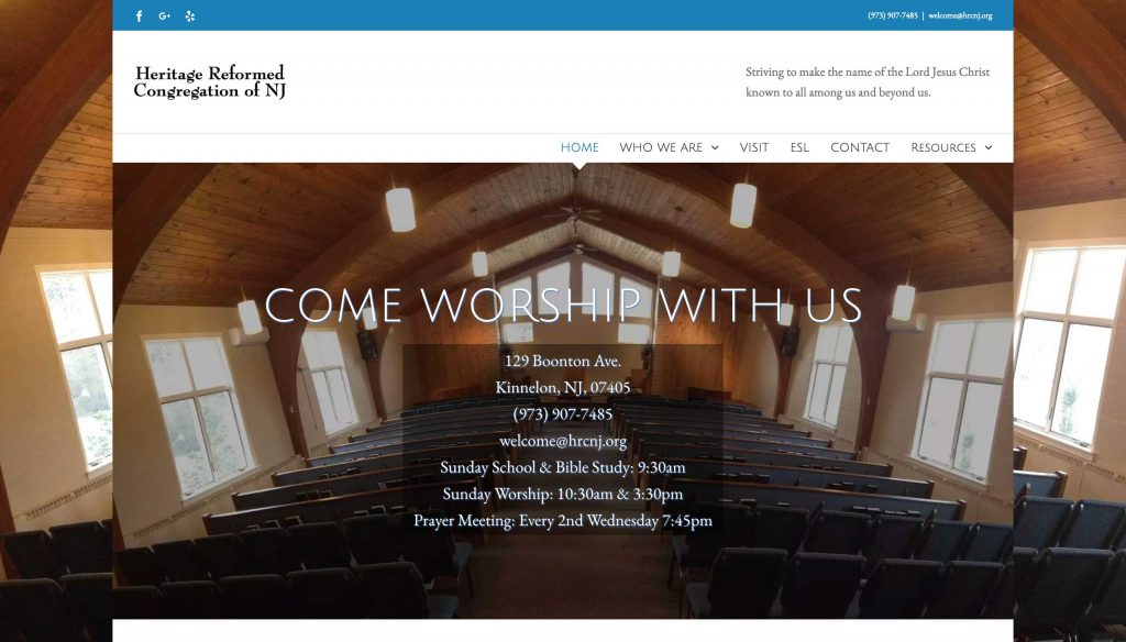 Heritage Reformed Congregation of New Jersey